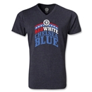 Chelsea Red White and Blue V-Neck T-Shirt (Heather Gray)