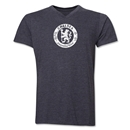 Chelsea Distressed Emblem V-Neck T-Shirt (Dark Gray)
