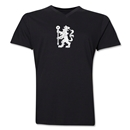 Chelsea Distressed Lion V-Neck T-Shirt (Black)