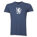 Chelsea Distressed Lion V-Neck T-Shirt (Heather Navy)