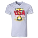 USA CONCACAF Gold Cup 2013 Champions V-Neck T-Shirt (White)