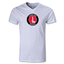 Charlton Athletic V-Neck T-Shirt (White)