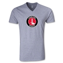Charlton Athletic V-Neck T-Shirt (Gray)
