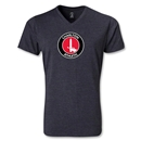Charlton Athletic V-Neck T-Shirt (Heather Gray)