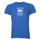 Ipswich Town Distressed Men's V-Neck T-Shirt (Heather Royal)
