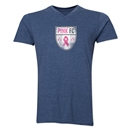 Pink FC Men's V-Neck T-Shirt (Heather Navy)