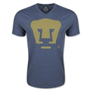 Pumas UNAM V-Neck T-Shirt (Heather Navy)