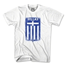 Greece Hellas Crest T-Shirt (White)