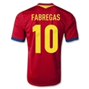 Spain 2013 FABREGAS Home Soccer Jersey