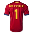 Spain 2013 IKER CASILLAS Home Soccer Jersey