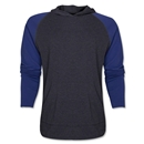 Raglan Long Sleeve Hoody (Gray/Navy)