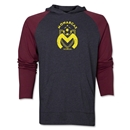 Monarcas Distressed Raglan LS Hoody (Red/Gray)