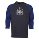 Newcastle United Distressed Logo Raglan Hoody (Navy/Gray)