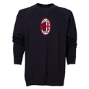 AC Milan Logo Crewneck Fleece (Black)