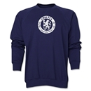 Chelsea Distressed Emblem Crewneck Fleece (Navy)