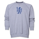 Chelsea Distressed Lion Crewneck Fleece (Gray)