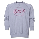 Barcelona Worn Crewneck Fleece (Gray)