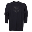 Barcelona Distressed Crewneck Sweatshirt (Black)