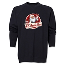 FC Santa Claus Animated Santa Men's Crewneck Fleece (Black)
