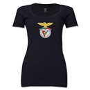 Benfica Women's Scoopneck T-Shirt (Black)