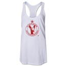 Xolos de Tijuana Women's Racerback Distressed Tank Top (White)