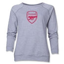 Arsenal Crest Women's Sweatshirt (Gray)
