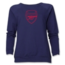 Arsenal Crest Women's Sweatshirt (Navy)