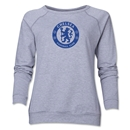 Chelsea Emblem Women's Crewneck Fleece (Gray)