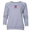 Barcelona Small Logo Women's Crewneck Sweatshirt (Gray)