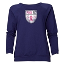 Pink FC Women's Crewneck Sweater (Navy)