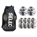 Select Numero 10 Soccer Ball Package (White/Gold)