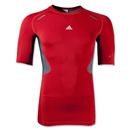 adidas TechFit Prep Top (Red/Silver)