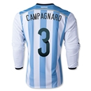 Argentina 2014 CAMPAGNARO LS Home Soccer Jersey