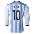 Argentina 2014 MESSI LS Home Soccer Jersey