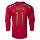Spain 2014 PEDRO LS Home Soccer Jersey