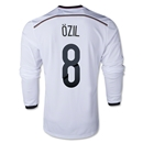 Germany 2014 OZIL LS Home Soccer Jersey