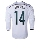 Germany 2014 DRAXLER LS Home Soccer Jersey