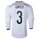 Germany 2014 GINTER LS Home Soccer Jersey