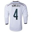Germany 2014 HOWEDES LS Home Soccer Jersey