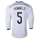 Germany 2014 HUMMELS LS Home Soccer Jersey