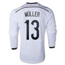 Germany 2014 MULLER LS Home Soccer Jersey