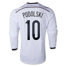 Germany 2014 PODOLSKI LS Home Soccer Jersey