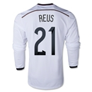 Germany 2014 REUS LS Home Soccer Jersey