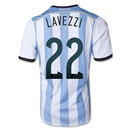 Argentina 2014 LAVEZZI Home Soccer Jersey
