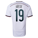 Germany 2014 GOTZE Authentic Home Soccer Jersey