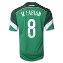 Mexico 2014 M. FABIAN 8 Home Soccer Jersey