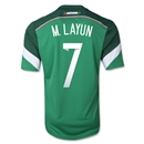 Mexico 2014 M LAYUN 7 Home Soccer Jersey