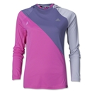 adidas Womens' BCA Pink Ribbon LS Hooded T-Shirt (Pink/Sv)