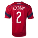 Colombia 2014 ESCOBAR Away Soccer Jersey