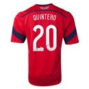 Colombia 2014 QUINTERO Away Soccer Jersey